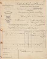 Féculeries & Glucoseries De Châlon-sur-Saône, Plagny-la-Ville Et Seurre  à Mr Bourdeau, Distillateur, Limoges. 1889. - 1800 – 1899