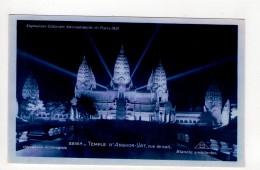 CP 9*14-AF1230-EXPOSITION COLONIALE INTERNATIONALE DE PARIS 1931 TEMPLE D ANGKOR VAT VUE DE NUIT - Expositions