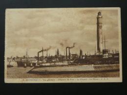 Carte Phare De Dunkerque Flamme Daguin Malo Les Bains Le Port La Plage 1924 - Phares