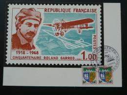 Carte Meeting Aérien Cinquantenaire Rolland Garros Réunion 1968 - Airplanes