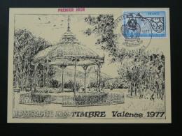 Carte Maximum Card Journée Du Timbre Valence 1977 Drome - Día Del Sello