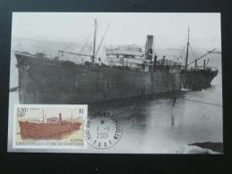Carte Maximum Card Bateau à Vapeur Austral Polar Ship TAAF 2001 - Boten