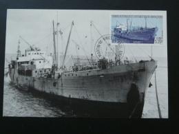 Carte Maximum Card Bateau Langoustier Sapmer Polar Ship TAAF 2001 - Schiffe