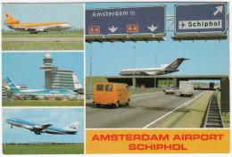 Amsterdam: MERCEDES-BENZ 207D, FORD TAUNUS MKV, CITROËN 2CV -Airport Schiphol, OLYMPIC, KLM , CPAir, Airflorida(Holland) - Voitures De Tourisme
