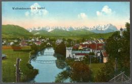2945 - Alte Ansichtskarte - Wolfratshausen Gel. Bahnpost ZUG 76 - 1928 Beck - Wolfratshausen