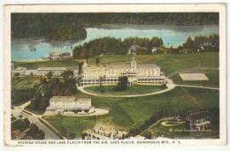 Stevens House And Lake Placid From The Air, Lake Placid, Adirondack Mts., N.Y. - 1926 - Adirondack