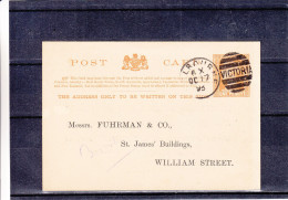 Australie - Victoria - Carte Postale De 1893 - Entier Postal - Oblitération Melbourne Victoria - 1850-1912 Victoria