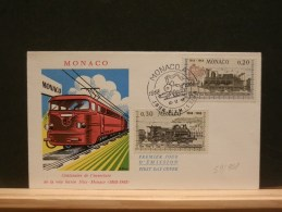 59/928  FDC  MONACO - Trains