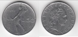 **** ITALIE - ITALIA - 50 LIRE 1959 VULCANO **** EN ACHAT IMMEDIAT - 1946-… : République