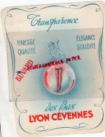 69 - LYON - BEAU BUVARD BAS LYON CEVENNES - LINGERIE POUR PORTE JARRETELLES - Textile & Vestimentaire