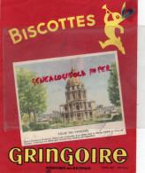 45 - PITHIVIERS EN GATINAIS - BUVARD BISCOTTES GRINGOIRE - EGLISE DES INVALIDES HARDOUIN MANSARD -BISCOTTE - Food