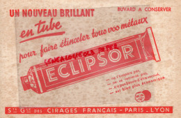 69 - LYON - 75- PARIS - BUVARD ECLIPSOR - CIRAGE CIRE POUR METAUX - CIRES - Buvards, Protège-cahiers Illustrés