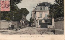 CPA FONTENAY SOUS BOIS - LA RUE DU PARC - Fontenay Sous Bois