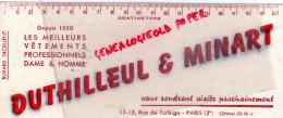 75- PARIS - BUVARD VETEMENTS PROFESSIONNELS - DUTHILLEUL & MINART-13 RUE DE TURBIGO - CENTIMETRE - Textile & Vestimentaire