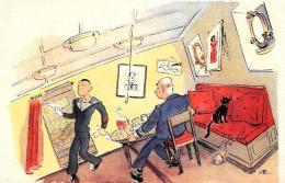 [DC2977]CPA - HUMOR - UN BUON MAITRE D'HOTEL DOIT AVOIR BEAUCOUP DE QUALITES ET EN ... - Non Viaggiata - Old Postcard - Humor