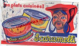 BUVARD SCARAMELLI - SPAGHETTI - PATES ARVIOLIS - ITALIE - -IMPRIMEUR SEZANNE LYON - Food
