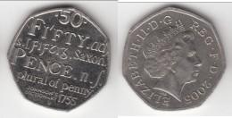 **** GRANDE-BRETAGNE - GREAT-BRITAIN - 50 PENCE 2005 JOHNSON'S DICTIONARY 1755 *** EN ACHAT IMMEDIAT !!! - 1971-… : Monnaies Décimales