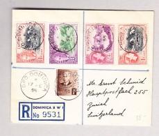 Dominica 17.2.1955 GPO Dominica R-Brief Nach Zürich - Dominique (...-1978)