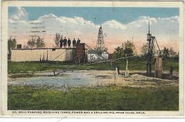 Near TULSA - Oil Well Pumping, Receiving Tanks, Power And A Drilling Rig, Near Tulsa, Oklahoma - Tulsa