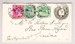 Indien 26.1.1906 Pindwara Brief Nach Genève - Inde (...-1947)