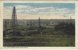 Near TULSA - Oil Field Scene Near Tulsa, Oklahoma - Tulsa