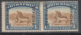 WS-D562 SOUTH AFRICA GBC - Official, 1936 1/- Brw & Dp Bl W. Upr. SGO17bw £85 M [FREE WORLDWIDE SHIPPING] - Non Classés