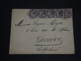 GRANDE BRETAGNE - Enveloppe De Londres Pour La Suisse En 1896 - Affranchissement Plaisant - A Voir - L 58 - Storia Postale