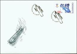 Slovakia 2010, FDC Cover Sport Olympics Bobsleigh Mi.# 629, Ref.bbzg - FDC