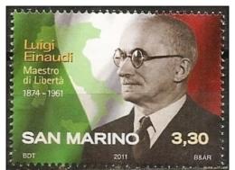 San Marino: Luigi Einaudi - Persönlichkeiten