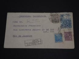 BRESIL - Enveloppe En Recommandée Exprés Pour Rio En 1949 - A Voir - L 60 - Storia Postale