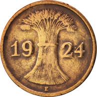 Allemagne, République De Weimar, Rentenpfennig, 1924, Muldenhütten, TTB, KM:30 - 1 Rentenpfennig & 1 Reichspfennig