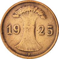 Allemagne, République De Weimar, Reichspfennig, 1925, Stuttgart, TTB, KM:37 - 1 Rentenpfennig & 1 Reichspfennig