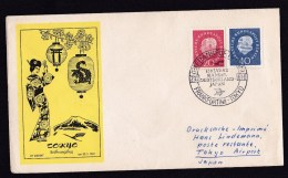 Germany: FFC First Flight Cover, 1961, 2 Stamps Heuss, Lufthansa, Frankfurt-Tokyo Japan (traces Of Use) - [7] West-Duitsland