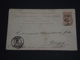 BELGIQUE - Entier Postal Commerciale De Liège ( Repiquage Au Dos) Pour La France En 1896- A Voir - L 63 - Stamped Stationery