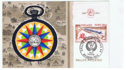 France:Philatec. 1964.Rallye Philatec.Briançon Paris - Cartoline Maximum