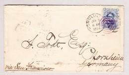 Hawaii 3.1.1894 Honolulu Brief Nach Pforzheim Via San Francisco - Hawaï