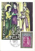 ANDORRE - CARTE MAXIMUM 1er JOUR - N° 221 - RETABLE ST JEAN De CASELLES - Cartes-Maximum (CM)