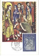 ANDORRE - CARTE MAXIMUM 1er JOUR - N° 222 - RETABLE ST JEAN De CASELLES - Cartes-Maximum (CM)