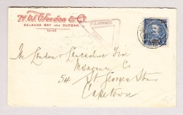 Lourenço Marques 26.10.1900 EF 100Reis Zensur Brief Nach Captown Südafrika - Lourenco Marques