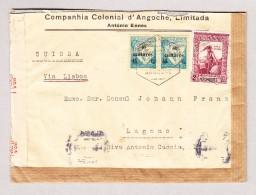Mosambik 28.12.1942 Doppelt Zensur Brief Nach Lugano TI Via Lisabon - Mozambique