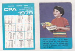 Romanian Small Calendar - 1979 - DCA - Calendriers