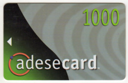 TANZANIE CARTE MAGNETIQUE ADESECARD 1000