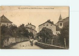 SAINT MARTIN En VERCORS - Entrée Du Village Animée -  2 Scans - Francia