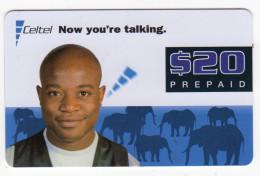 ZAMBIE RECHARGE ZAMCELL 20$ ELEPHANT - Zambie
