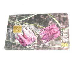 Blume Flower  Telefonkarte Phonecard Hungary - Flores