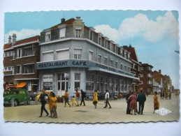 CPSM 59 Bray-Dunes Plage - Le Modern'Hôtel - Vue Avec Animation Et 2ch Citrôen  A Voir ! - Bray-Dunes