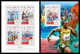 SOLOMON Isl. 2014 - Athletics Championship - YT 2128-31 + BF283; CV = 27 €
