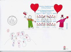 GREENLAND 2007 UN Children's Rights Block On FDC.  Michel  Block 36 - FDC