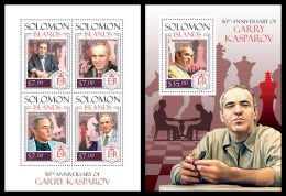SOLOMON Isl. 2014 - G. Kasparov, Chess - CV = 27 € - Schaken