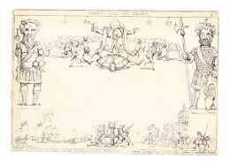 GB 1840 DERADEMAEKER Mulready Karikatur #8 Fores's Civil Envelope Ungebraucht - 1840 Mulready-Umschläge